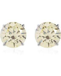 Carat* - Fancy Yellow Eternal Stud Earrings - Lyst