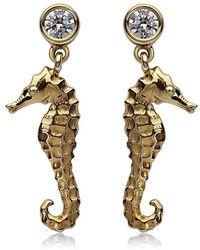 Theo Fennell - Seahorse Drop Earrings - Lyst