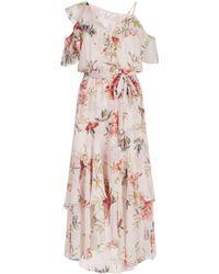 Joie - Floral Ruffle Dress - Lyst