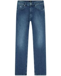 BOSS - Relaxed-fit Mid Wash Jeans - Lyst