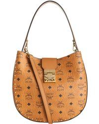 MCM - Medium Patricia Hobo Bag, Brown, One Size - Lyst