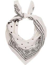 Dolce & Gabbana - Cotton Square Scarf - Lyst