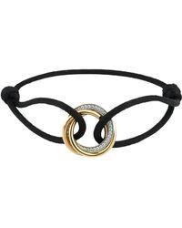 Cartier - Trinity De Diamond Cord Bracelet - Lyst