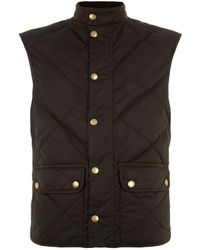 Barbour - Lowerdale Waxed Cotton Quilted Gilet - Lyst