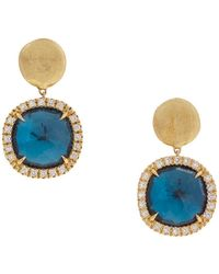 Marco Bicego - Jaipur Blue Topaz Drop Earrings - Lyst