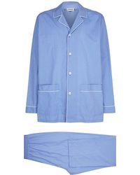 Zimmerli - Cotton Long-sleeve Pyjama Set - Lyst