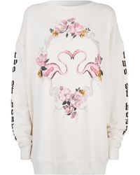Wildfox - Two Of Hearts Flamingo Sweatshirt - Lyst