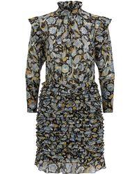 6c0efd51ec5 Robert Rodriguez Strapless Lace Trim Dress in White - Lyst