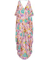 Lazul | Silk Cold-shoulder Maxi Dress | Lyst