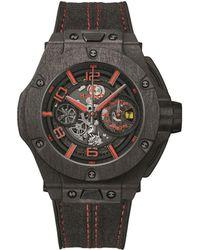 Hublot - Carbon Big Bang Ferrari Unico Watch - Lyst