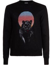 Saint Laurent - Panther Motif Sweater - Lyst