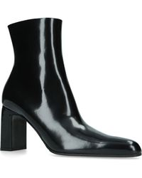 Balenciaga - Leather Zip Ankle Boots 105 - Lyst