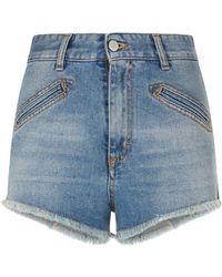 Fiorucci - Edie Frayed Hem Shorts - Lyst