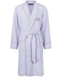 Harrods - Multi Stripe Cotton Robe - Lyst