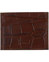 Harrods - Crocodile Embossed Leather Cardholder - Lyst