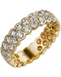 Cartier - Yellow Gold And Diamond Broderie De Double Wedding Band - Lyst