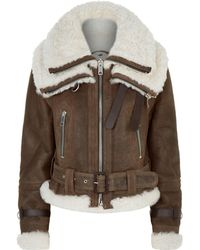Burberry - Reissued 2010 Shearling Aviator - Lyst