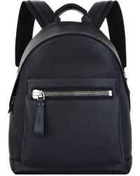 Tom Ford - Grained Leather Backpack - Lyst