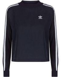 Adidas Originals   Multi-textured Logo Printed Jumper   Lyst