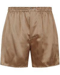 Zimmerli | Flower Print Silk Boxer Shorts | Lyst