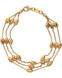 Links of London - Yellow Gold Vermeil Essentials 3 Row Bracelet - Lyst