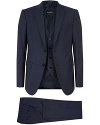 Emporio Armani | Micro Check Three-piece Suit | Lyst