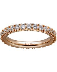 Cartier - Pink Gold And Diamond Destine Ring - Lyst