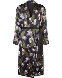 Meng - Printed Silk Dressing Gown - Lyst