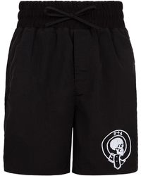 RTA - Embroidered Spine Shorts - Lyst