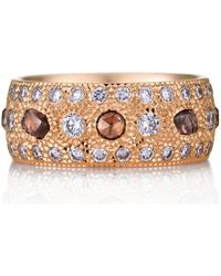 De Beers - Rose Gold And Diamond Talisman Ring - Lyst