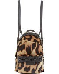 Stella McCartney - Mini Falabella Go Leopard Print Backpack - Lyst