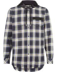 DIESEL - Check Hooded Shirt Jacket - Lyst