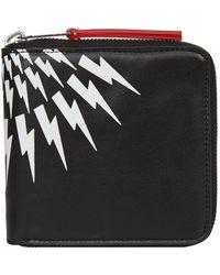 Neil Barrett - Lightning Bolt Zipped Wallet - Lyst
