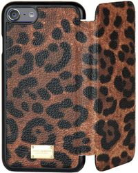 Dolce & Gabbana - Leopard Iphone 7 Cover With Flap - Lyst