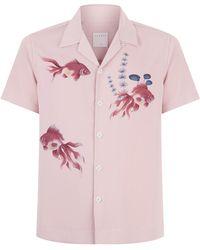 Sandro - Goldfish Print Shirt - Lyst