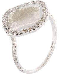 Susan Foster | Diamond Slice White Gold Ring | Lyst