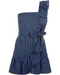 Alexis - Konner Denim Mini Dress - Lyst