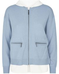 Max & Moi - Wool-cashmere Zipped Hoodie - Lyst