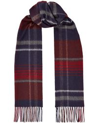Harrods - Checked Cashmere Scarf - Lyst