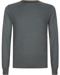 Corneliani - Textured Grid Jumper - Lyst