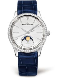Jaeger-lecoultre - Master Ultra Thin Moonphase Diamond Bezel Watch - Lyst