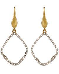Monica Vinader - Riva Diamond Hoop Earrings, Gold - Lyst