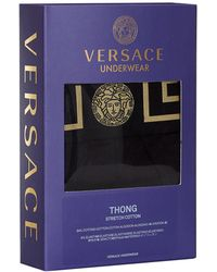 Versace - Low Rise Stretch Thong - Lyst