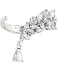 YEPREM - White Gold Wrap Ring - Lyst
