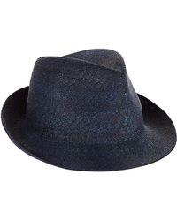 Philip Treacy - Logo Pin Trilby Hat - Lyst 0190169d7b13