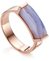 Monica Vinader - Linear Lace Agate Stone Ring - Lyst