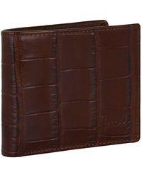 Harrods - Crocodile Embossed Leather Bifold Wallet - Lyst