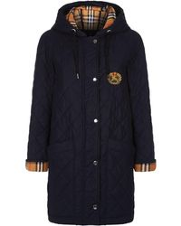 Burberry - Archive Logo Quilted Jacket - Lyst