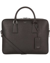 Sandro - Leather Briefcase - Lyst