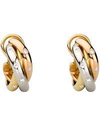 Cartier - Trinity De Diamond Hoop Earrings - Lyst